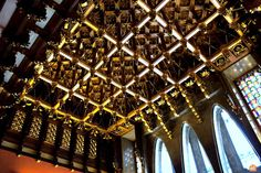 Palau Güell, a magnificent example of domestic modernist architecture Barcelona Tourism, Central Hall, Gaudi, Architecture, Building, Modern, Room, Arquitetura, Bedroom