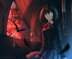 Another: F**K i'm the deadman!! (Horror anime, but i think that is more splatter than horror)