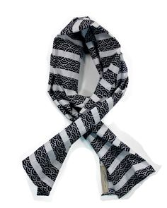 Kiriko Scarf from vintage kimono fabric, comes with a pin and a fragrance stick - Made in USA