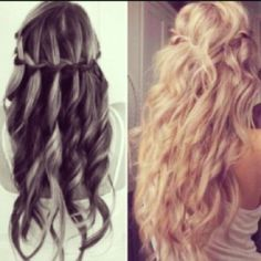 Summer waves and waterfall braid