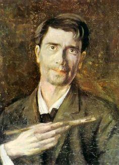 Ștefan Luchian, (Romanian painter) (self-portrait), Lucian Freud Portraits, Romania People, Self Portait, Selfies, Fine Arts School, Art Database, House Painting, Painting Art, Artist At Work