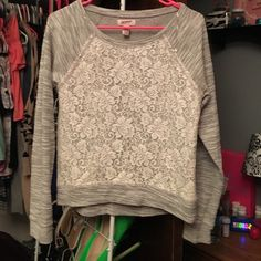 Selling this Lace sweater in my Poshmark closet! My username is: kbrune2016. #shopmycloset #poshmark #fashion #shopping #style #forsale #Arizona Jean Company #Sweaters