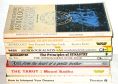 Astrology Tarot and Dream book lot vintage 70s 80s era occult esoteric books by sweetalicelovesyou on Etsy