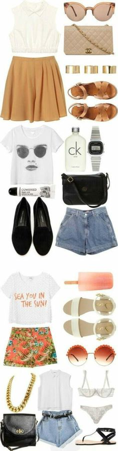 Four summer casual chic outfits