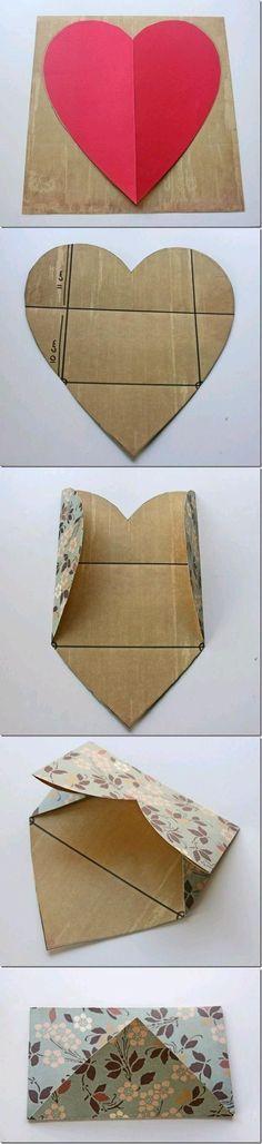 ¿Quieres hacer una carta? Mira este sobre, fácil de hacer.