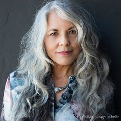 Michelle (@silverbeauty.michelle) • Instagram photos and videos Michelle Instagram, Going Gray, Layered Cuts, Gray Hair, Female Images, Love Her, Feminine, Portraits, Poses