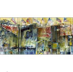 Shea Stadium Queens New York Watercolor  85 x 11Print by dfrdesign, $21.00