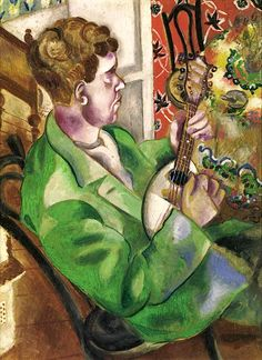 Marc ChagallThe Mandolin Player (David, the artist's brother) 1914-1915oil on cardboard 50 × 37.5cm