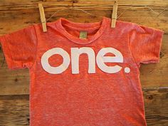 one simple heathered Birthday Tee Organic Shirt Blend first birthday shirt first birthday shirt. $27.00, via Etsy.