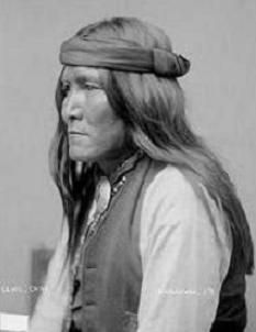 Chatto, Born 1854 Arizona, Died 13 August 1934. Chiricahua Apache warrior who carried out several raids on settlers in 1870s Arizona. He was a protege of Cochise and surrendered with Cochise in 1872 going to live on the San Carlos Reservation in Arizona. Photo 1886.  ck