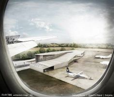 Txtil arquitectes. 2nd prize Airport in Poland [Play-time Images]