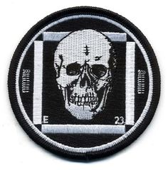 Embroidered patch with the classic 'test card' skull design.3 inches in…