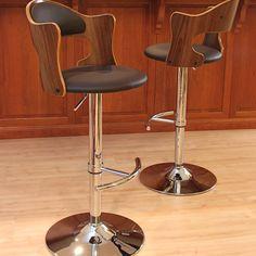 LumiSource Cello Adjustable Height Swivel Bar Stool with Cushion   AllModern
