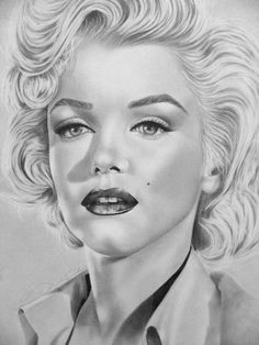 Drawing Portraits - Dessin 1990 par Corinne Morange - marilyn monroe Discover The Secrets Of Drawing Realistic Pencil Portraits.Let Me Show You How You Too Can Draw Realistic Pencil Portraits With My Truly Step-by-Step Guide. Zeichnung Marilyn Monroe, Marilyn Monroe Dibujo, Marilyn Monroe Drawing, Marilyn Monroe Artwork, Portrait Au Crayon, Pencil Portrait, Girl Watercolor, Pin Up Retro, Celebrity Drawings