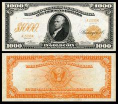 $1,000 1907-1922 Alexander Hamilton