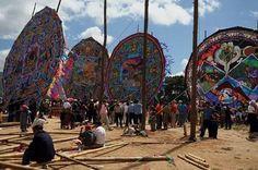 Kite Festival; Santiago, Guatemala; November 1; Children make kites, many of them elaborate or gigantic, and fly them on Nov. 1 and 2 at the cemetery to banish evil spirits.