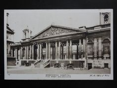 London GREENWICH HOSPITAL The West Colonade - Old Postcard ... Old London, Old Postcards, Yahoo Images, Old Photos, Image Search, Louvre, Lost, Ship, History