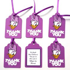Thank You Favor Tags Personalized Daisy Duck by ScrapsToRemember, $12.00
