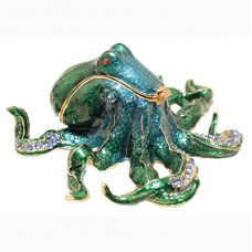 Truly Twisted: Green Octopus Swaroski Crystal Trinket Box $56.00