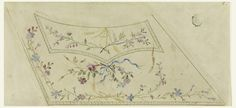Drawing, Design for Embroidered Waistcoat of the Fabrique de St. Ruf, ca. 1785