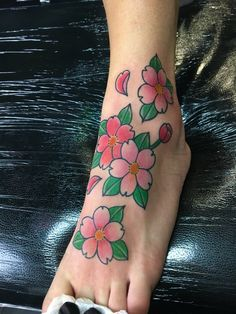 Cherry Flowers traditional japanese tattoo