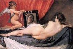 The Toilet of Venus: (also known as The Rokeby Venus): by Diego Velazquez (National Gallery, London) - Baroque Caravaggio, Diego Velazquez, National Gallery, Baroque Art, Spanish Painters, Classic Paintings, Art Paintings, Italian Paintings, Beautiful Paintings