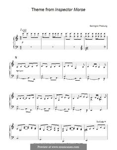 Theme from Inspector Morse: For piano by Barrington Pheloung