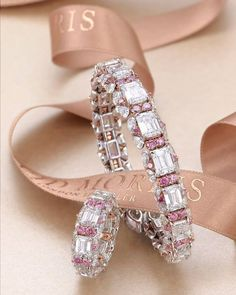 Pirouette, the act of twirling while dancing. Nothing describes this collection better, with its soft elegant form while using the highest… Pink Jewelry, Jewelry For Her, Pearl Jewelry, Bridal Jewelry, Diamond Jewelry, Indian Jewelry, Jewelry Design Drawing, Bangle Bracelets, Bangles