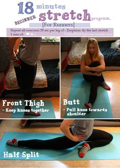 Stretching to relax, improve flexibility and improve circulation.
