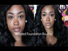 Updated Foundation Routine| Highlight & Contour - YouTube