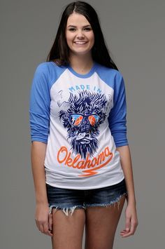 Unique OKC Thunder fan top!