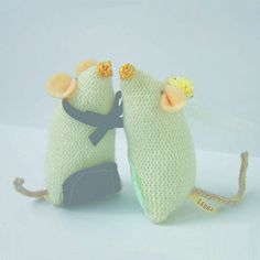 Wedding Mice Toppers. For Wedding Cheese Cakes