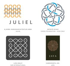 2014 Logo Design Trend: Knit. These designers understood the value of the story of a woven solution but they have taken a different path to a similar result. {via LogoLounge.com}