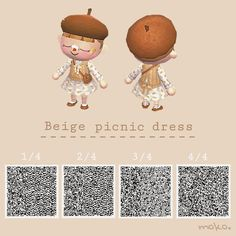 Animal Crossing 3ds, Animal Crossing Qr Codes Clothes, Animal Crossing Pocket Camp, Baby Animals, Funny Animals, Cute Animals, Motif Acnl, Ac New Leaf, Picnic Dress
