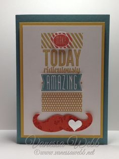 Mostache Die and Amazing Birthday 2014/15 Catalogue www.vanessawebb.stampinup.net