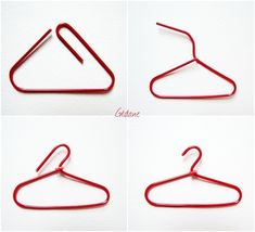 MINI CLOTHES HANGER WITH A PAPERCLIP – SO THAT\S HOW YOU DO IT!