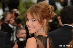Elodie Fontan (Photo RACHID BELLAK) #Cannes2014 #DESSANGE Smiling People, Star Francaise, Palais Des Festivals, All Smiles, Girl Crushes, Photos, Photography, Cannes Film Festival, Dancing With The Stars