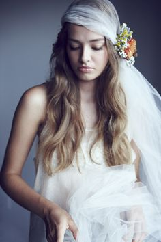 A little while ago, when summer was still summer, I collaborated with Gabrielle D'Amico, the beautiful and talented designer of the veil...