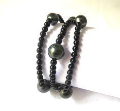 Bracelet or et perle de tahiti