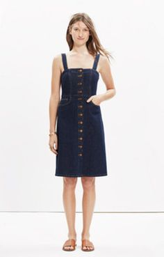 bought this for miami!- Denim Overall Dress in Matilda Wash