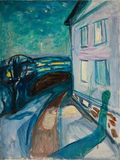 House Wall in Moonlight 1922–24 / Oil on canvas / 90 x 68 cm Munch Museum