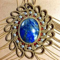 Rumi Sumaq macrame necklace in process rumisumaq.com