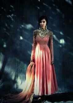 #Desi #Fashion ~ Gorgeous, embellished #Anarkali ~