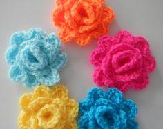 Crochet Applique Pattern Vieng Ping Rose por HappyPattyCrochet