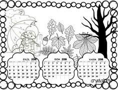 2018 takvim Airsoft, Coloring Pages, Canvas Art, Diagram, Clip Art, Autumn, Painting, Preschool, Calendar