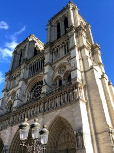 Notre-Dame's mpressive towers, Paris, from a travel blog by…