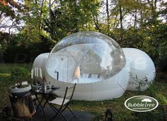 Outdoor Inflatable Bubble Tent with 2 Tunnels Family Backyard Camping Stargazing Backyard Camping, Camping Glamping, Camping Gear, Outdoor Camping, Campsite, Camping Equipment, Family Camping, Camping Pod, Glam Camping