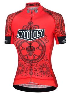 The Cycling Skull diagram drawn up with bicycle parts, cables & patterned tools. Flash a smiling set of chain link teeth as you pedal happily, experiencing the Day of the Totally Living. Women's Cycling Jersey, Cycling Jerseys, Cycling Bikes, Cycling Equipment, Road Cycling, Road Bikes, Mountain Bike Shoes, Mountain Biking, Jersey Retro