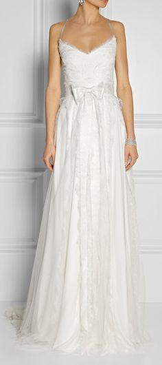beautiful Marchesa chantilly lace and satin gown  http://rstyle.me/n/fh6qupdpe
