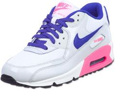 Nike Air Max 90 Youth GS schoenen wit blauw roze